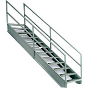 "EGA Steel Industrial Stairway 5-Step, 36"" Wide Grip Strut, Gray, 500 lb. Cap. - IS42-36KD"