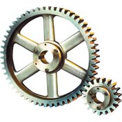 14-1/2 Pressure Angle, 6 Diametral Pitch, 72 Tooth Bushed Spur Gear