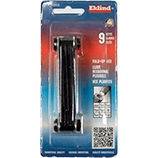 "Eklind 20912 9Pc. .050-3/16"" 9Pc. SAE Fold Up Hex Key Set"