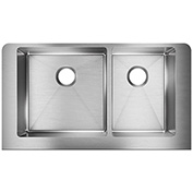 Elkay Crosstown ECTRUF32179R Steel Double Bowl Apron Front Undermount Kitchen Sink, 31-1/2 x 20-1/4