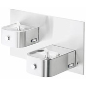 Elkay Soft Sides ADA Water Fountain, Stainless Steel, VR Bubbler, Cane Apron, 2 Station, EDFPVR217C