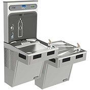 Elkay EMABFTL8WSLK EZH2O Water Bottle Refilling Station W/Bi-Level ADA Cooler, Refrig, Light Gray