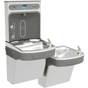 Elkay EZSTL8WSSK EZH20 Bi-Level Unfiltered Water Bottle Filling Station, 8 GPH, Stainless Steel