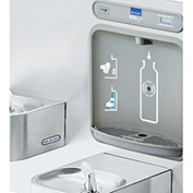 Elkay EZWS-EDFP217K EZH2O Water Bottle Refilling Station With Soft Sides Fountain Combo