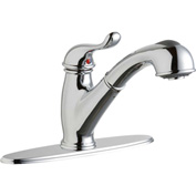 Elkay LK4000CR, Everyday Pull-Out Kitchen Faucet, Chrome, Single Lever Handle