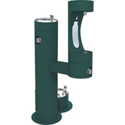 Elkay LK4420BF1LDB, Tri-Level Outdoor Pedestal Tubular W/Pet Fountain, Lower Water Refilling Station