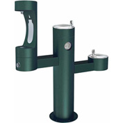 Elkay LK4430BF1M, Tri-Level Outdoor Pedestal Fountain, Middle Water Refilling Station