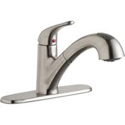 Elkay LK5000LS, Everyday Pull-Out Kitchen Faucet, Lustrous Steel, Single Lever Handle