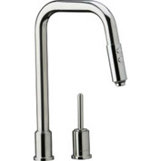 Elkay LK7720PSS, Ella Pull-Down Kitchen Faucet, Polished Stainless Steel, Single Remote Lever Handle