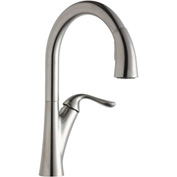 Elkay LKHA4031LS, Harmony Pull-Down Kitchen Faucet, Lustrous Steel, Single Lever Handle