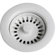 Elkay LKS35WH, White Drain Fitting w/Removable Basket Strainer For Kitchen