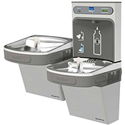 Elkay LZSTLDDWSLK EZH2O Water Bottle Refilling Station, Bi-Level, Non Refrig., Filtered, Light Gray