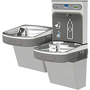 Elkay LZSTLDDWSVRLK EZH2O Water Bottle Refilling Station, Bi-Level, Non Refrig, Filt., VR Bub,L Gray