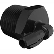 "3/4-14 Npt To 1/4"" Barbed Elbow, Black Nylon"