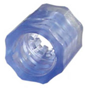 Luer Snap Lock Nuts, Medical Nylon Antimicrobial, Violet