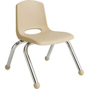 "ECR4Kids Classroom Stack Chair - 14"" - Sand - Pkg Qty 6"
