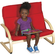 ECR4Kids® Double Seat Comfort Chair Red