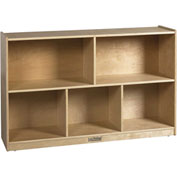 "ECR4Kids® Medium Birch Shelf Cubby Storage Cabinet, 5 Compartments, 48""W x 13""D x 30""H"