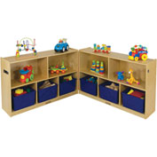 "ECR4Kids® Medium Birch Fold & Lock Cabinet, 48""W x 26""D x 30""H"
