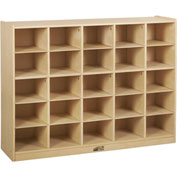 "ECR4Kids® 25 Tray Birch Storage Cabinet, 48""W x 13""D x 36""H"