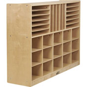 "ECR4Kids® Portfolio Multi-Section Birch Storage Cabinet, 48""W x 13""D x 36""H"