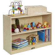 "ECR4Kids® 2 Shelf Cubby Storage Cabinet with Back, 36""W x 13""D x 26""H"