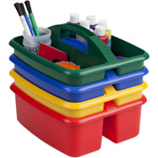 ECR4Kids® 2 Compartment Large Caddy 12-1/2x11x6-3/4, Assorted, Price Per Pack of 3, Sold 4/PK - Pkg Qty 3