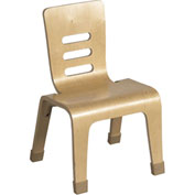 "ECR4Kids® 10"" Bentwood Stacking Chair - Natural - Pkg Qty 2"