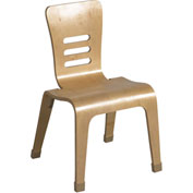 "ECR4Kids® 14"" Bentwood Stacking Chair - Natural - Pkg Qty 2"