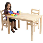 "30""x48"" Rectangular Hardwood Table (18"" Legs)"