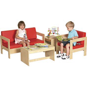 ECR4Kids® 4-Piece Living Room Set - Birch Red