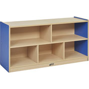"ECR4Kids® Colorful Essentials Low Shelf Cubby Storage, Compartment, 48""W x 15""D x 24""H, Blue"