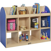 "ECR4Kids® Colorful Essentials Standard Book Storage Island, 48""W x 20""D x 36""H, Blue"
