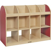 "ECR4Kids® Colorful Essentials Standard Book Storage Island, 48""W x 20""D x 36""H, Red"