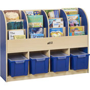 "ECR4Kids® Large Single-Sided Book Stand, 48""W x 12""D x 36""H, Blue"