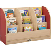"ECR4Kids® Toddler Single-Sided Book Stand, 36""W x 12""D x 24""H, Red"