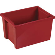 "ECR4Kids®  ELR-0722 Large Storage Bin, 13-3/4"" x 10-1/8"" x 8-3/8"", Red, Priced Each - Pkg Qty 6"