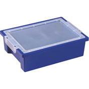 ECR4Kids®  ELR-0725 Storage Bin w/Clear Lid, 13-3/4x10-1/8x4-1/4, Blue, Priced Each - Pkg Qty 6