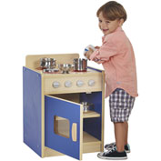 ECR4Kids® Colorful Essentials Play Kitchen Stove - Blue