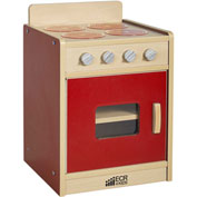 ECR4Kids® Colorful Essentials Play Kitchen Stove - Red