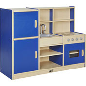 ECR4Kids® Colorful Essentials 4-in-1 Play Kitchen - Blue
