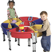ECR4Kids® 6 Station Ellipse Sand & Water Center w/ Lids