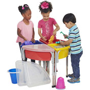 ECR4Kids® 4 Station Sand & Water Center w/ Lids - Round