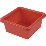 "ECR4Kids®  ELR-0800 Square Tray, 15""L x 15""W x 6-29/32""H, Red, Priced Each - Pkg Qty 4"