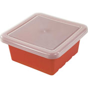 "ECR4Kids®  ELR-0801 Square Tray with Lid, 15""L x 15""W x 6-29/32""H, Red, Priced Each - Pkg Qty 4"