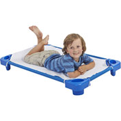 Ecr4kids® Stackable Toddler Kiddie Cot With Sheet - Ready To Assemble, Priced Ea, Sold 6/PK - Pkg Qty 6
