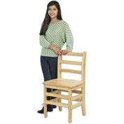 "ECR4Kids® 16"" Three Rung Ladderback Chair - Assembled - Pkg Qty 2"