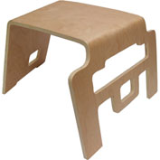 "ECR4Kids® Bentwood Linking & Stackable 3"" Stools - Pkg Qty 4"