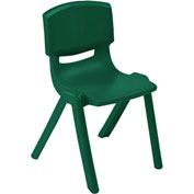 "ECR4Kids® 10"" Polypropylene Resin Chair - Green - Pkg Qty 6"