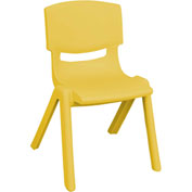 "ECR4Kids® 10"" Polypropylene Resin Chair - Yellow - Pkg Qty 6"